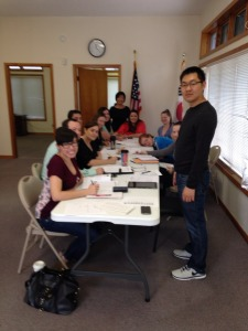 Our adult Korean language class.